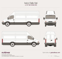 2000 Iveco Daily Van L3 H3 Twin Wheel Van blueprint