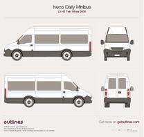 2006 Iveco Daily Minibus L3 H3 Twin Wheel Minivan blueprint