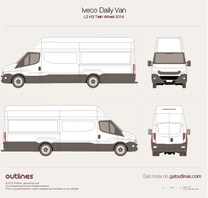 2014 Iveco Daily Van L3 H3 Twin Wheel Van blueprint
