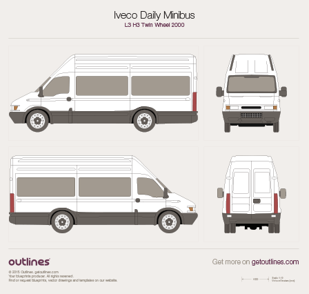 2000 Iveco Daily Minibus Minivan blueprints and drawings