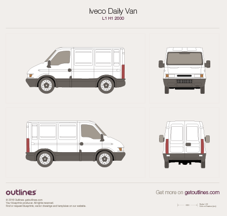 2000 Iveco Daily Van Van blueprints and drawings