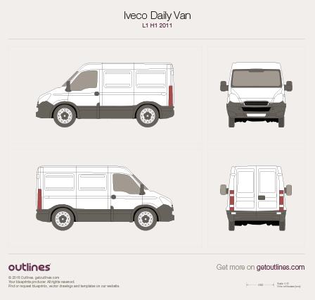 2011 Iveco Daily Van L1 H1 Van blueprint