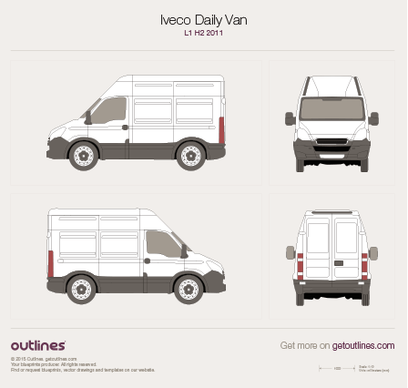 2011 Iveco Daily Van L1 H2 Van blueprint