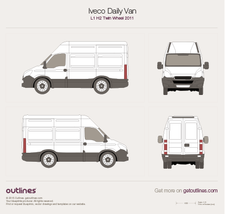 2011 Iveco Daily Van Van blueprints and drawings