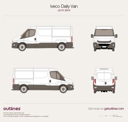 2014 Iveco Daily Van L2 H1 Van blueprint
