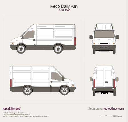 2000 Iveco Daily Van L2 H2 Van blueprint