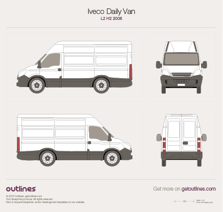 2006 Iveco Daily Van Van blueprints and drawings