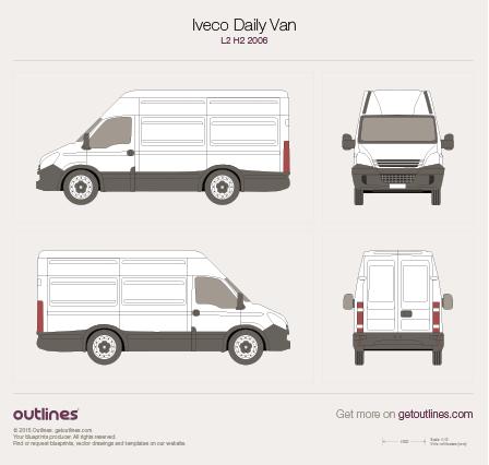 2006 Iveco Daily Van L2 H2 Van blueprint