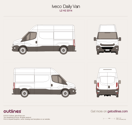 Iveco Daily blueprint