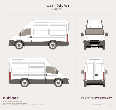 2011 Iveco Daily Van L2 H3 Van blueprint