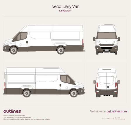 2014 Iveco Daily Van Van blueprints and drawings