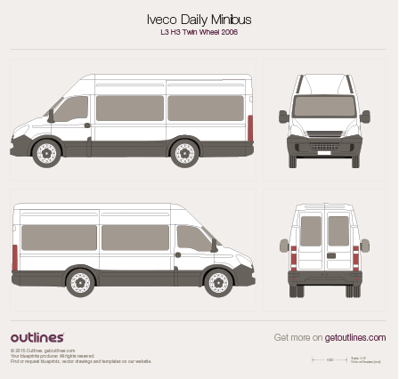 2006 Iveco Daily Minibus Minivan blueprints and drawings