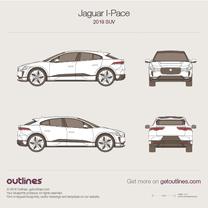 2018 Jaguar I-Pace SUV blueprint