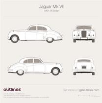 1954 Jaguar Mk VII M Sedan blueprint