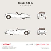 1954 Jaguar XK140 Roadster blueprint