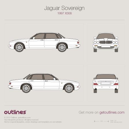 Jaguar XJ blueprint