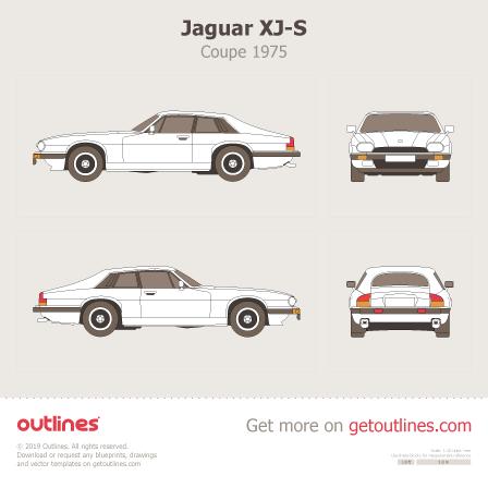 1975 Jaguar XJ-S Coupe blueprint