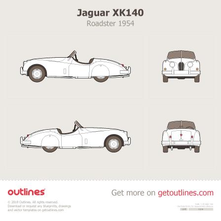 1954 Jaguar XK140 Roadster blueprints and drawings