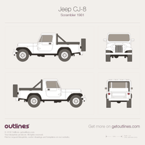 1983 Jeep CJ 8 Scrambler + JPEG + CDR SUV blueprint