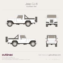 Jeep CJ blueprint