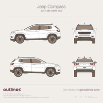 2017 Jeep Compass MP SUV blueprint