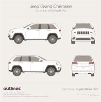 2013 Jeep Grand Cherokee WK2 Mk IV Facelift SUV blueprint