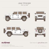 2017 Jeep Wrangler JL SUV blueprint