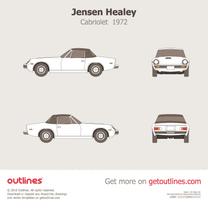 1972 Jensen Healey Cabriolet blueprint