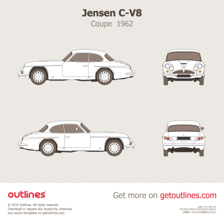 1962 Jensen C-V8 Coupe blueprints and drawings
