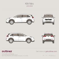 2016 KIA Niro SUV blueprint