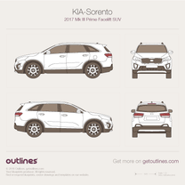 KIA Sorento blueprint