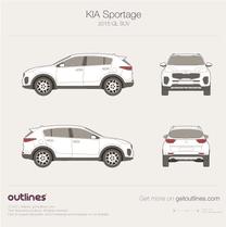 2015 KIA Sportage QL SUV blueprint