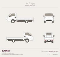 2005 KIA Frontier Standard Cabin Pickup Truck blueprint