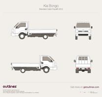 2014 KIA K3000S K-Series Standard Cabin Facelift Pickup Truck blueprint