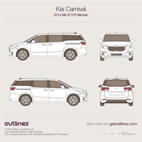 KIA Carnival blueprint