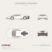 2016 Lamborghini Centenario Coupe blueprint