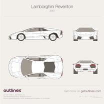 2007 Lamborghini Reventon Coupe blueprint