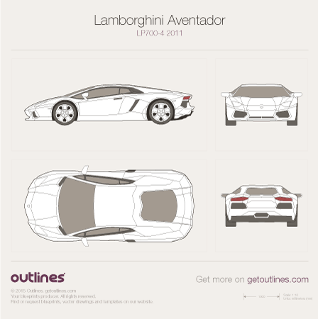 2011 Lamborghini Aventador LP700-4 Coupe blueprint