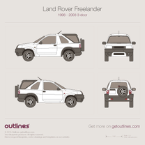 1998 Land Rover Freelander 3-doors SUV blueprint