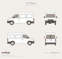 2011 Maxus LD100 Van blueprint