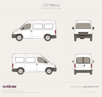 2004 LDV Maxus SWB H1 Van blueprint