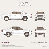 2017 LDV T60 Dual Cab Ute Pickup Truck blueprint