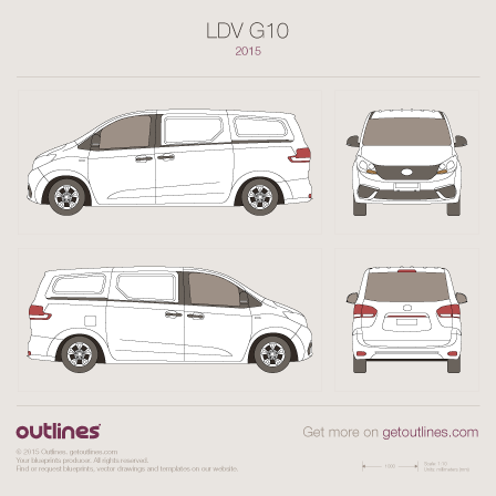 2014 Maxus G10 Panel Van Van blueprints and drawings