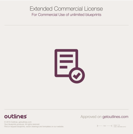 2015 License Commercial Plus For Commercial Use of 2-10 Blueprints Formula blueprint