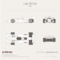 1997 Lola T97/20 Formula blueprint