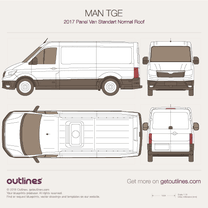 2017 MAN TGE Panel Van blueprint