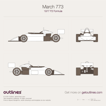 1977 March 773 F3 Formula blueprint