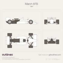 1987 March 87B GP F1 Formula blueprint
