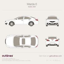 2007 Mazda 6 GH Sedan blueprint