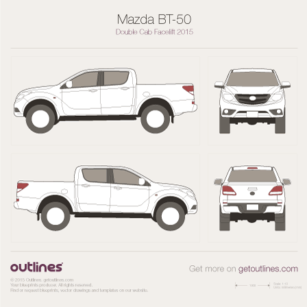 Mazda BT-50 blueprint